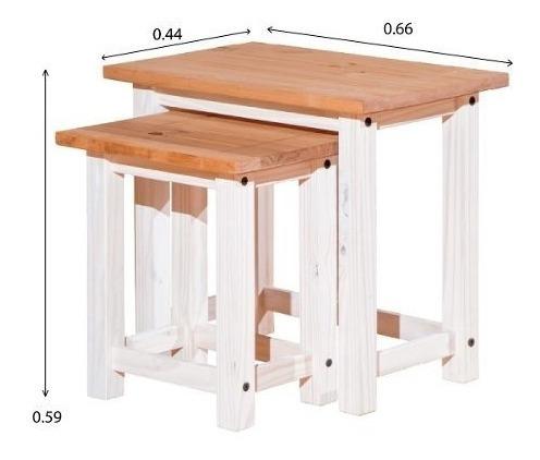 mesa de living linea mexicana e698