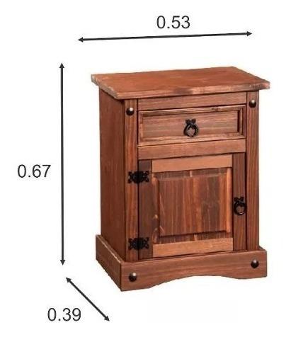 mesa de luz - madera - linea mexicana