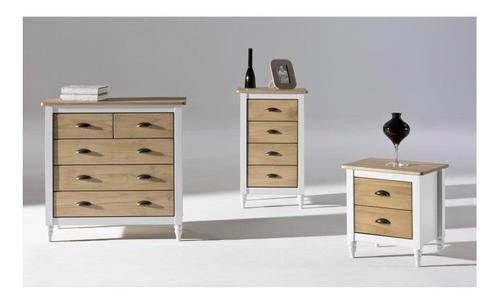 mesa de luz vintage madera- iryna-armado gratis - artico