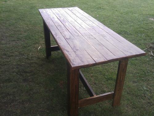 Mesa de madera maciza para interior y exterior comedor - Mesa madera exterior ...