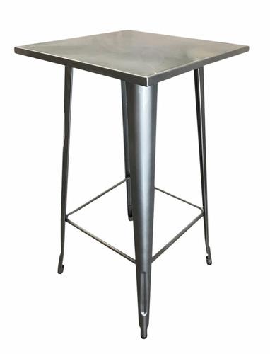 mesa de metal tolix gunmetal 60x60 cocina cerámicas castro.