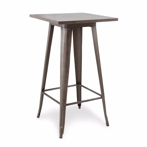 mesa de metal tolix rusty cocina 60x60 cerámicas castro.