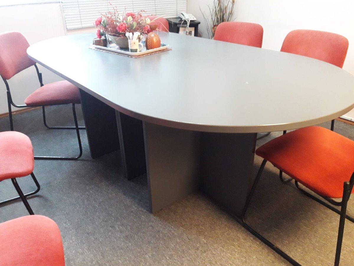 Mesa De Reuniones - Ovalada Para Oficina 7 Sillas - $ 10.000,00 en ...