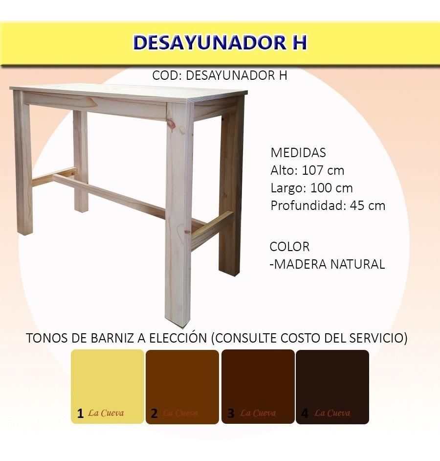 Mesa Desayunador Con Bancos - Barra - Cocina - Comedor - Lcm