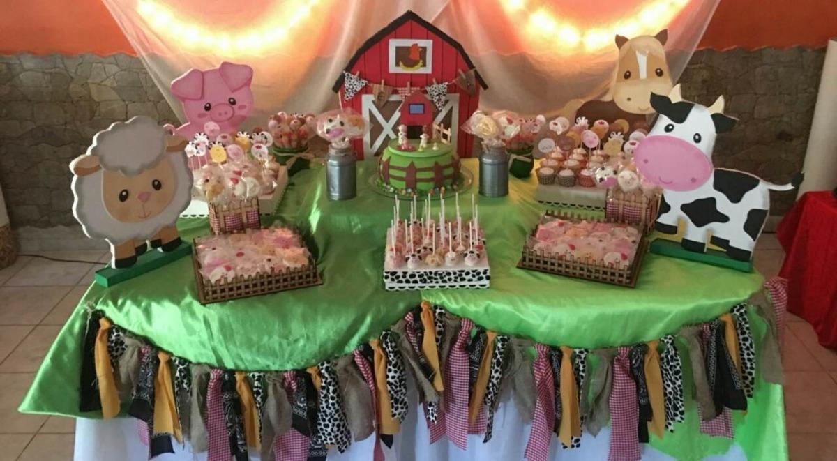 Mesa dulce de granja decoracion de mesa y tortas 1 00 for Decoracion para mesa dulce