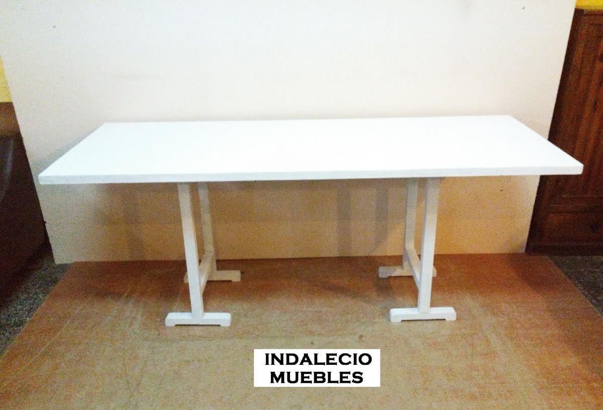 Mesa Grande Rustica Comedor Barbacoa De Caballete- Indalecio - $ 2.490,00