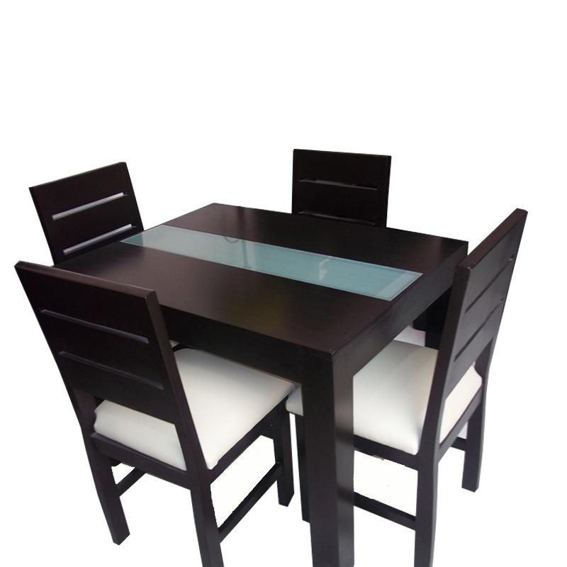 Mesa moderna para cocina y comedor con 4 sillas for Juego de mesa y sillas para cocina