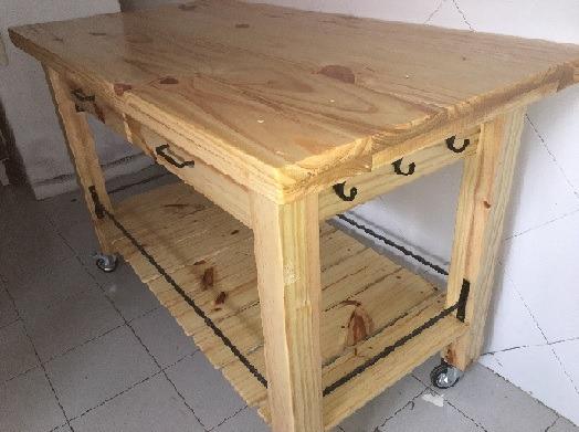 Mesa Para Cocina , En Madera Y Hierro , Durarte.uy
