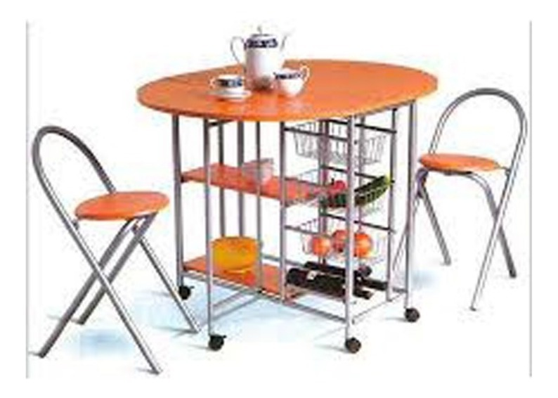 Mesa Para Cocina Plegable Con 2 Sillas Haya