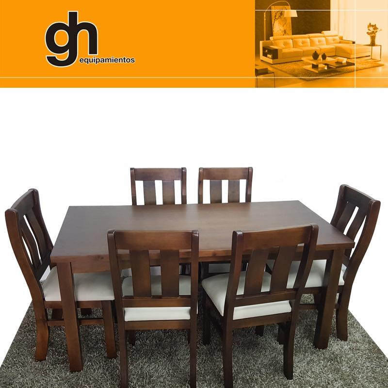 Mesa Para Comedor Con 6 Sillas Tapizadas Color A Elección Gh