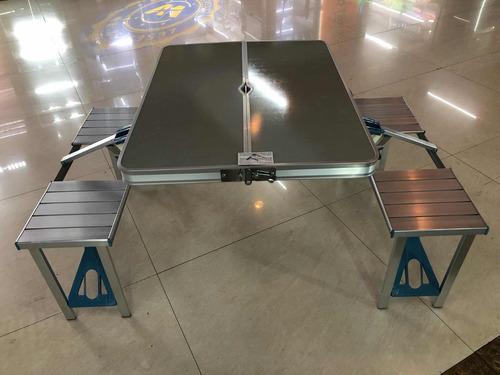 mesa plegable c/4bancos 4 personas