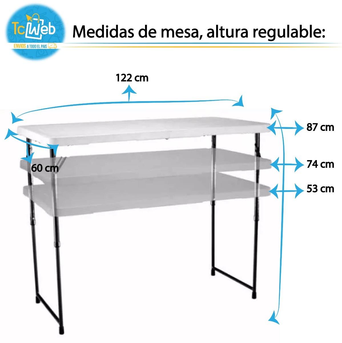 Plegable Alturas Regulable Mesa Polipropileno 3 We9ID2YEH