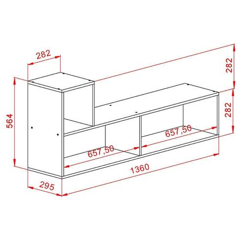 mesa rack tv lcd led mueble módulo l melamina blanco