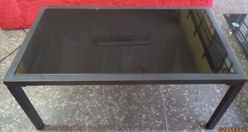 mesa ratona con vidrio | brasil shop