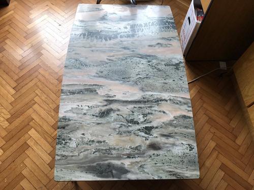 mesa ratona de marmol de 1,30 x 80 cm
