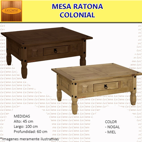 mesa ratona living mueble madera