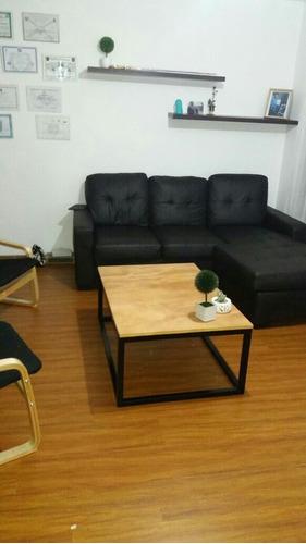 mesa ratona madera y hierro ((( fotos reales )))