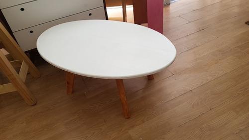 mesa ratona ovalada