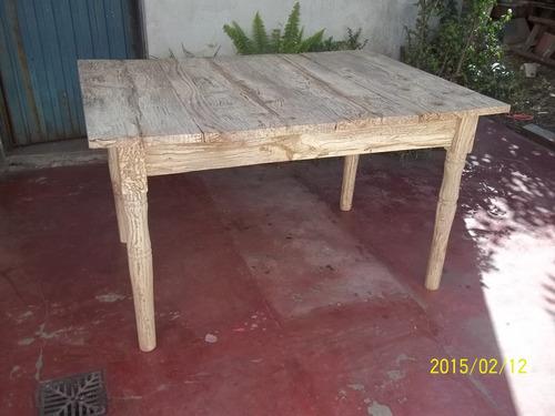 mesa rustica marmolada