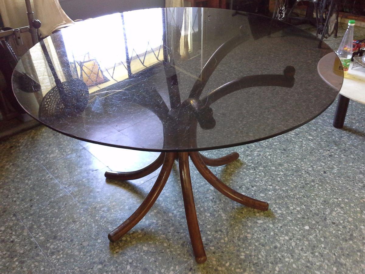 Mesa vienesa thonet con vidrio ahumado rebajo leer 4 for Quien compra muebles usados