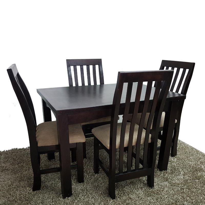 Mesa y sillas para cocina comedor living madera maciza gh for Mesas y sillas de madera para cocina