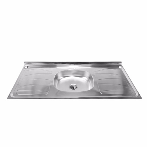 mesada bacha acero inoxidable pileta central cocina  outlet