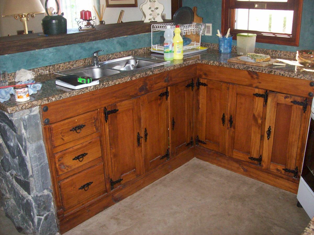 bajo mesada de cocina rustica artesanal en On bajo mesadas para cocina uruguay