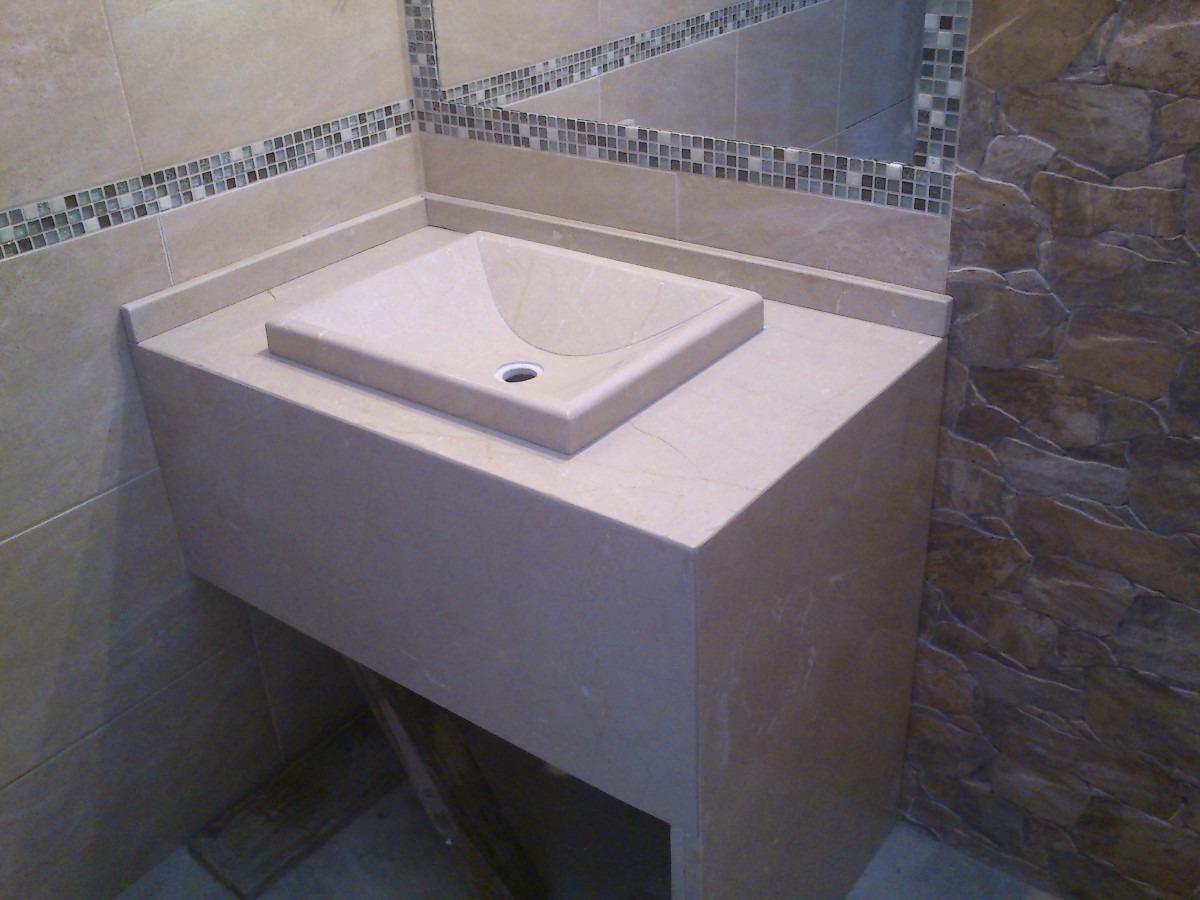 Marmol Para Baños | Mesada De Marmol Para Bano Con Bacha Artesanal 4 500 00 En