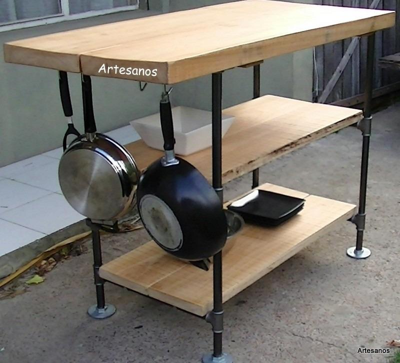 Mesas Cocina O Comedor Industrial Design Caños Y Tablones - $ 10.500 ...