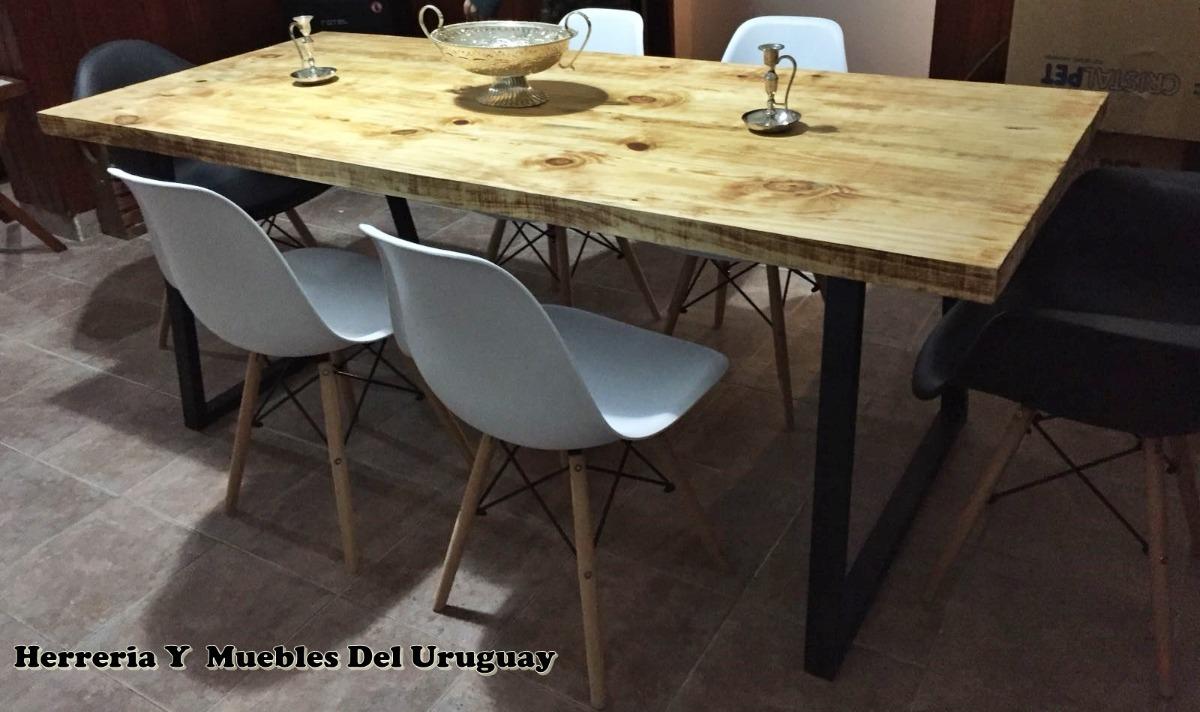 Mesas de comedor estilo industrial en for Mesa de comedor de estilo industrial