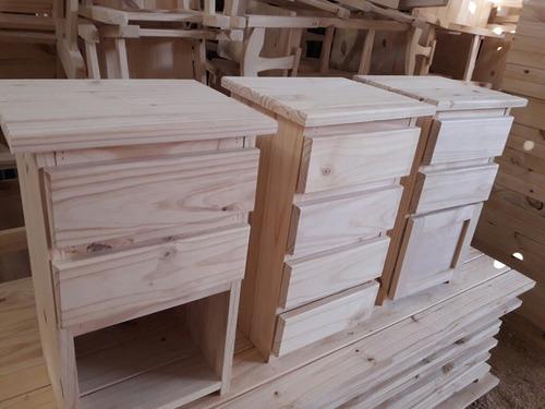 mesas de luz en pino (oferta)