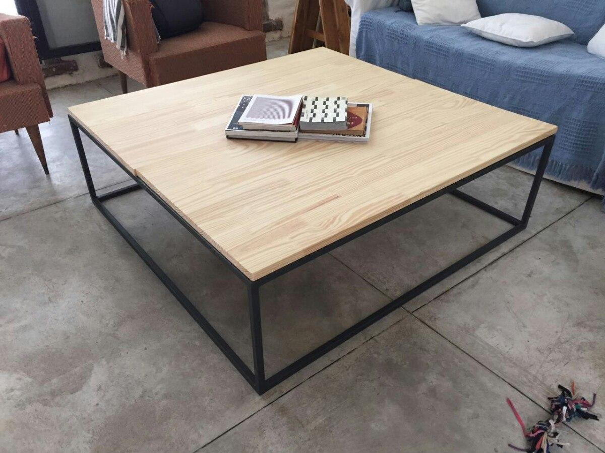 Mesas madera hierro lo ultimo en dise o en mercado libre - Mesa madera diseno ...