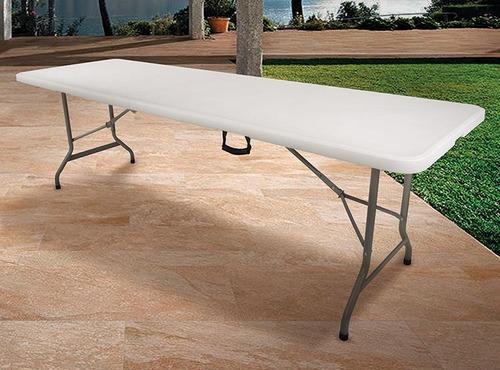 mesas plastica plegable tipo valija 2.40cm bentancor outdoor