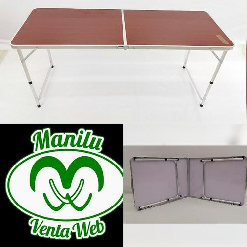 mesas plegables de aluminio