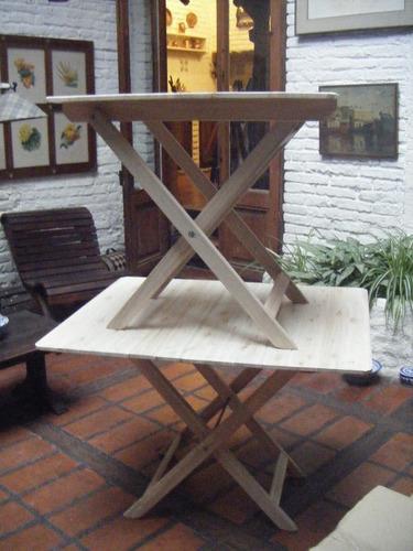 mesas plegables de madera ,rectangulares y redondas