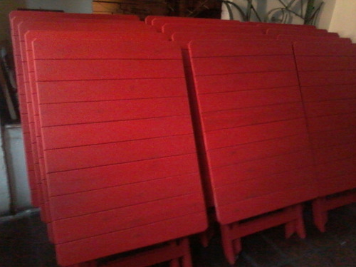 mesas plegables de madera,eucaliptus grandis, pintadas