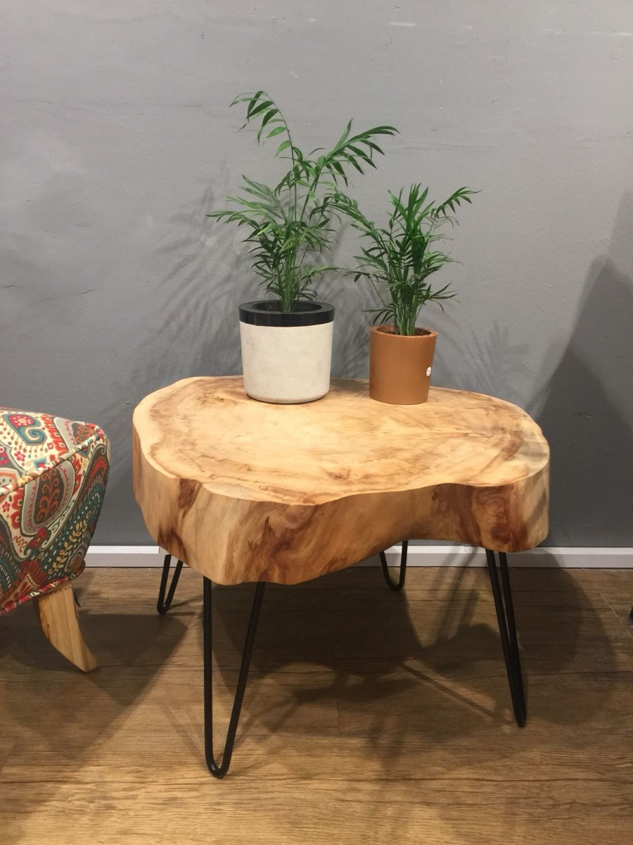 Mesas r sticas de madera maciza en mercado libre for Mesa de camping de madera