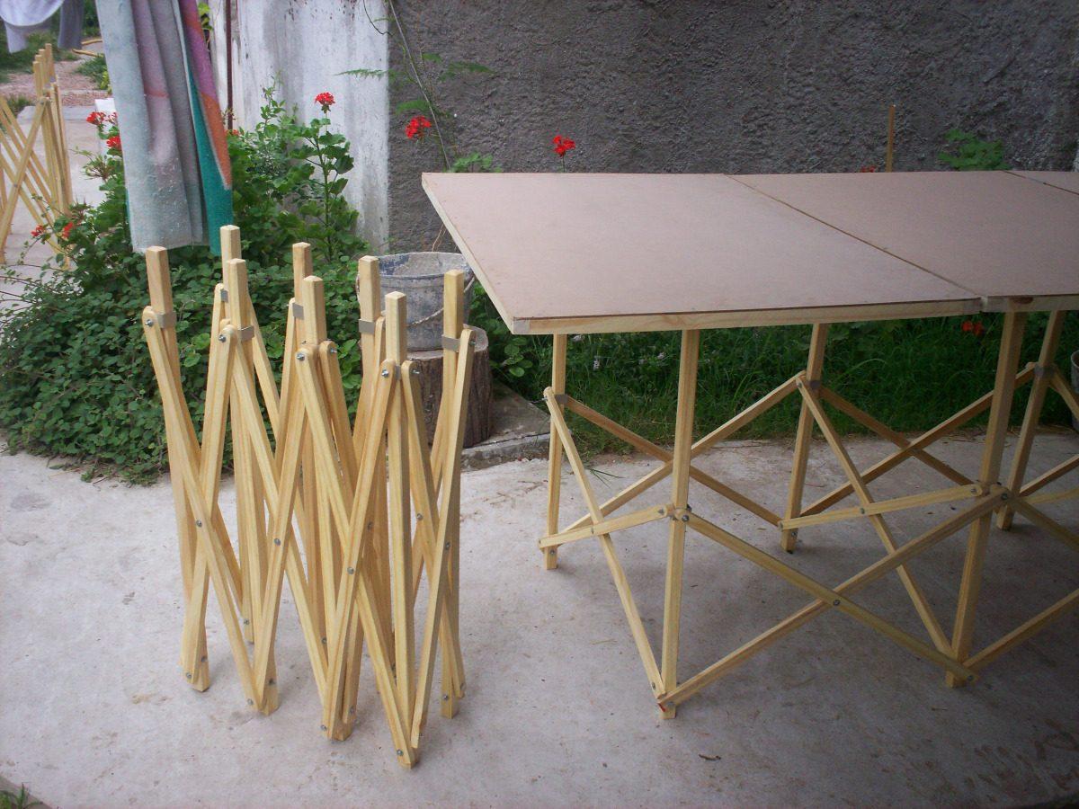 Mesas Y Caballetes Plegables Para Hogar Feria O Camping 770 00