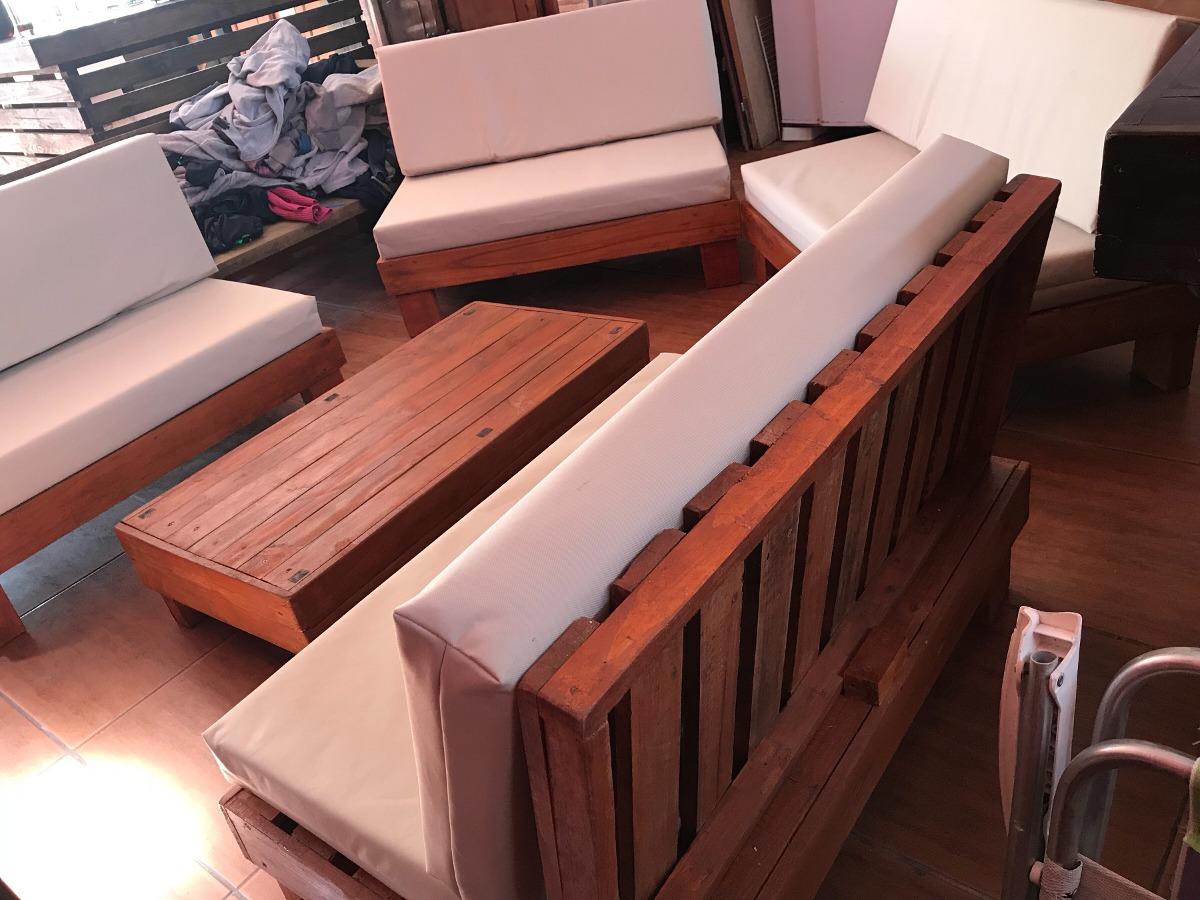 Mesas Y Sillones Esquinero De Madera Palet Pallets Rustico 2300 - Sillon-palets-madera