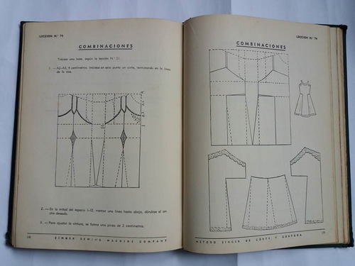 metodo singer de corte y costura 170 paginas del año 1951