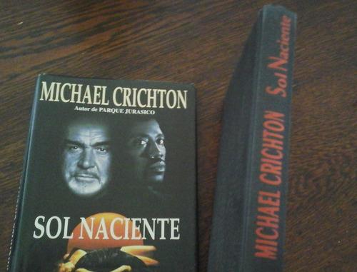 michael crichton, sol naciente 1a ed p&j tapa dura+sobretapa