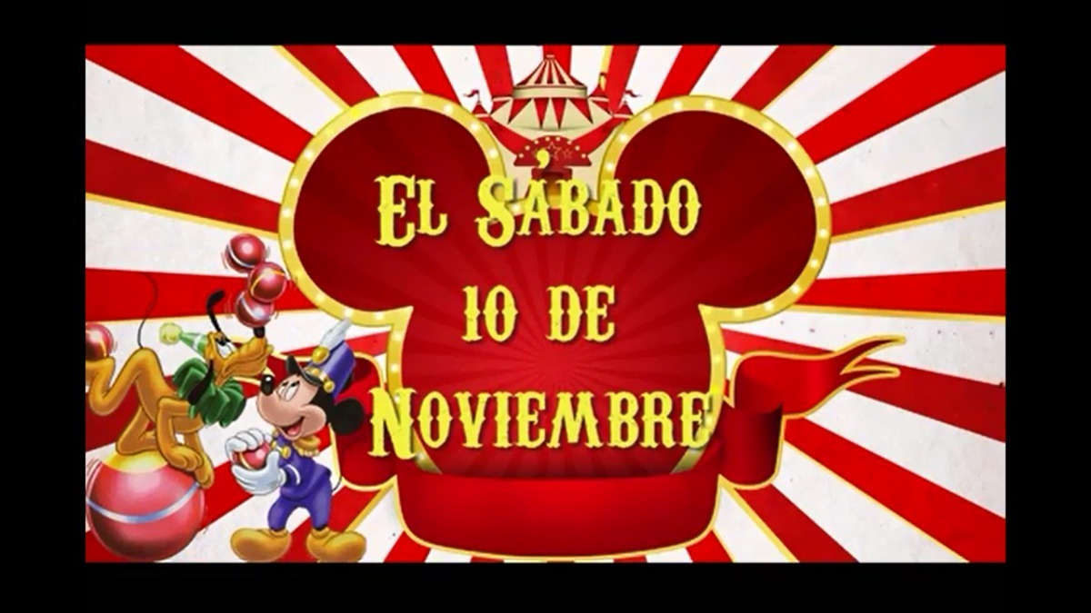 Mickey Circo Vídeo Tarjeta Invitación Digital Para Whatsapp
