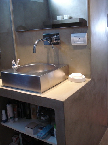microcemento cemento alisado micropiso c hidrolaca baudesign
