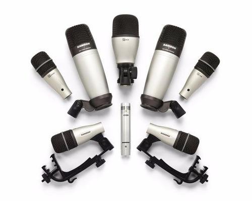 microfono bateria samson dk8 kit 8 pcs