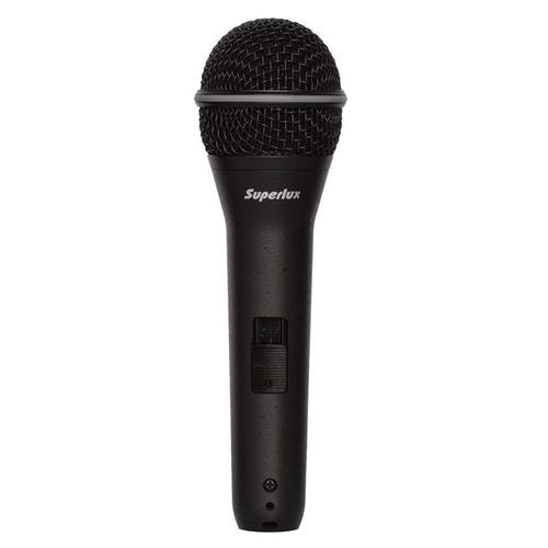 micrófono de mano con switch superlux fh12s