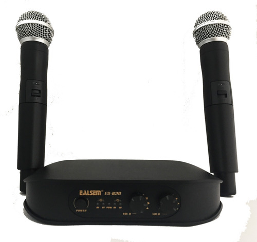 microfono inalambrico doble vhf ealsem es620