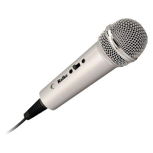 micrófono metálico con pedestal kolke en oferta loi