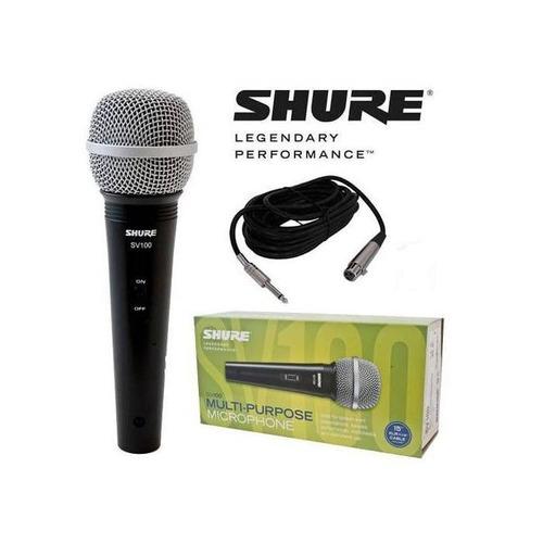micrófono shure sv100 con cable