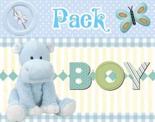miles de scrapbook baby shower boy nene , baberos, ositos