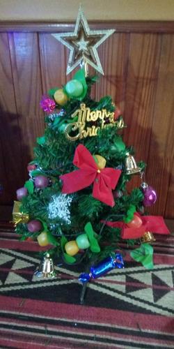 mini arbol de navidad con luces  y adornos  video real 45cm